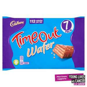 Cadbury Timeout Wafer Biscuits 7 Pack 7 x 21.2g / Butterscotch Crunch 135g - £1 @ Morrisons
