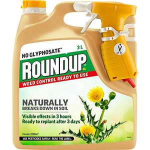 Roundup Naturals Glyphosate-Free Powerful Weed Killer - 3 Litre Power-Sprayer for £7.50 (Prime) / £11.99 (Non Prime) delivered @ Amazon
