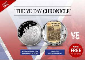 Claim Your FREE, 75th Anniversary Of VE Day, The Headline Coin *Just Pay £2.50 P&P @ London Mint Office