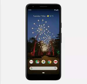 GOOGLE Pixel 3a - 64 GB Android Mobile Smart Phone Just Black Smartphone - £274.55 With Code @ Currys Ebay