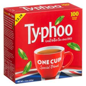Typhoo One Cup 100 Round Teabags 200g £1 instore @ B&M