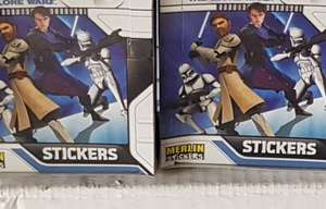 4 X Boxes of 50 Star Wars The Clone Wars 2008 Merlin Sticker Packs (1200 Stickers) £11.95 delivered @ cazza.g123 ebay