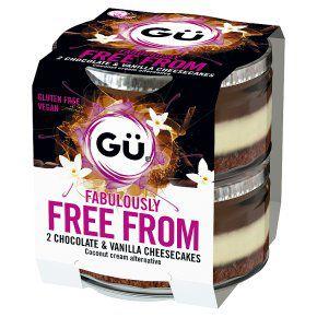 Gu Free From Chocolate & Vanilla Cheesecakes 2x82g £2.62 at Waitrose and partners