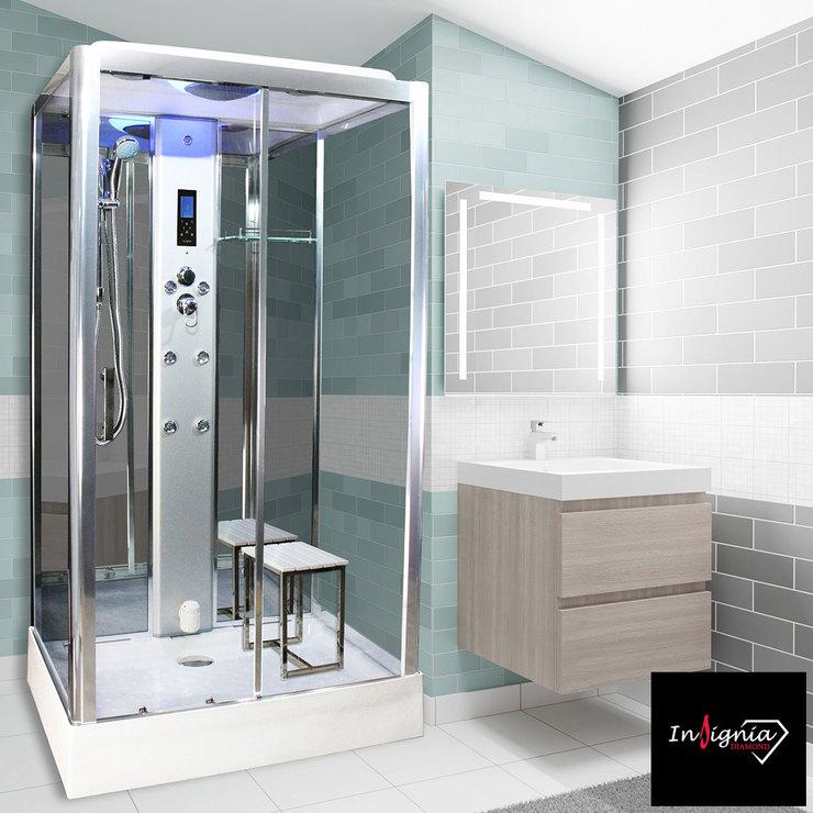 Insignia Diamond 1150 x 850mm Rectangular Steam Shower - Built in Bluetooth Speakers / Steam Generator - £999.89 Delivered @ Costco
