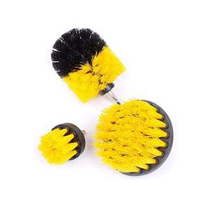 ExeQianming 3-piece Nylon drill-powered cleaning brushes kit for £9.99 Prime (+£4.49 non Prime) @ July Miracle fulfilled by Amazon