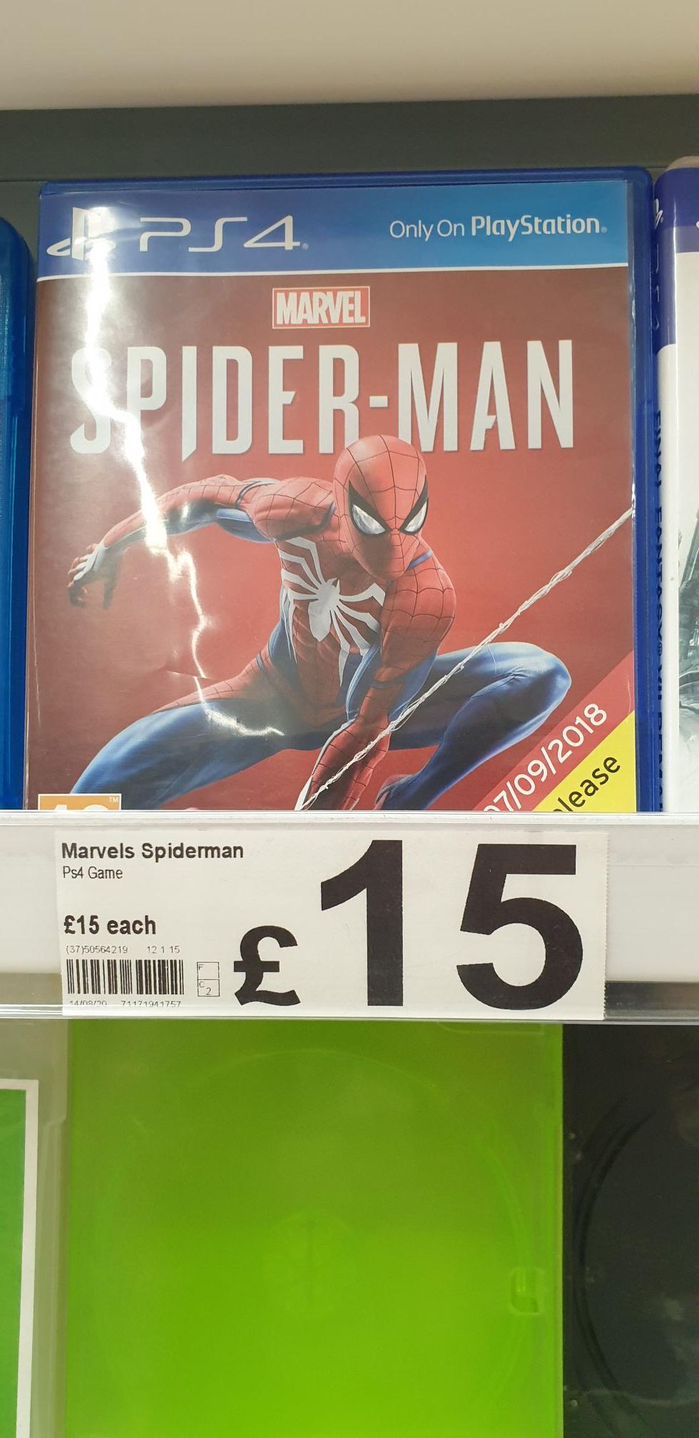 Spider Man PS4 - £15 Instore @ Asda (London)