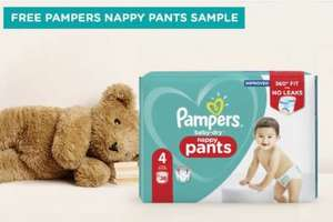 Pampers Nappy Pants size 4 free sample