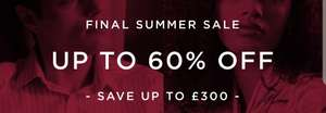 60% off + extra 20% off with code + free delivery @ Hawes and Curtis (+ Cashback)