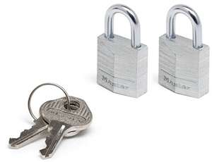 Master Lock Padlock, Solid Aluminum Body Lock (Pack of 2) for £2 (Prime) / £6.49 (NP) delivered @ Amazon