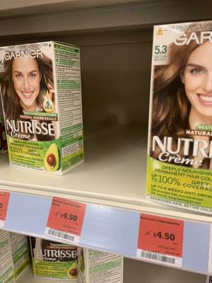 sainsburys - garnier nutrisse permanent hair dye - all colours reduced to £4.50 (Exeter Store)