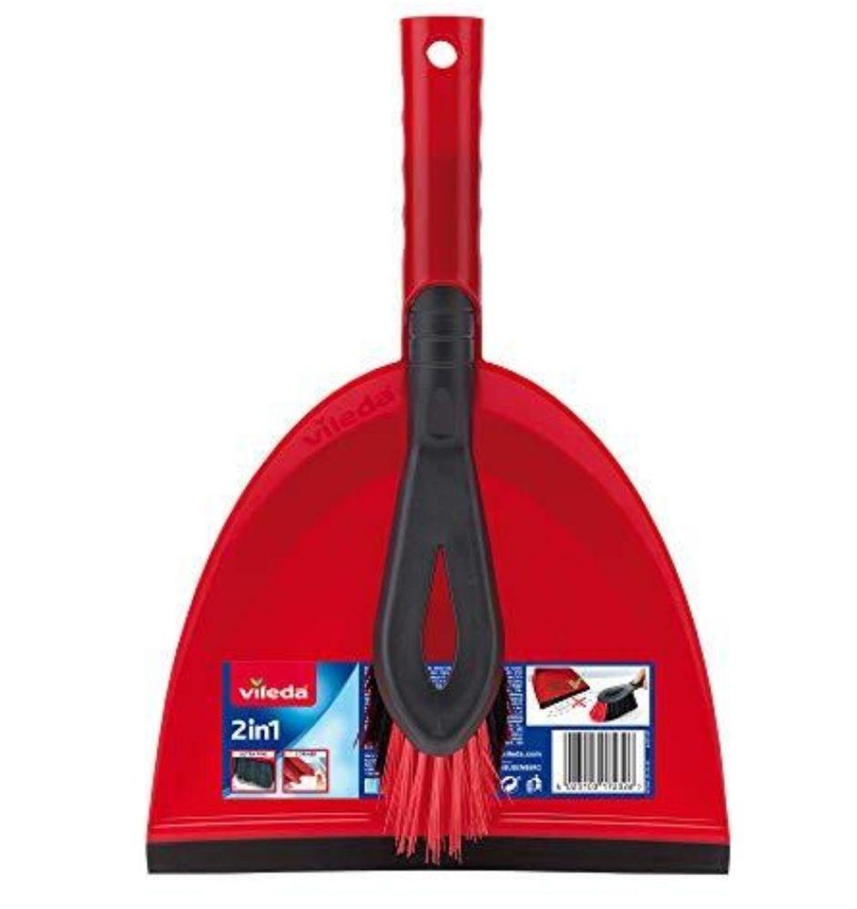 Vileda 2-in-1 Dustpan Set, Red - £2.50 Prime / £6.99 Non Prime @ Amazon