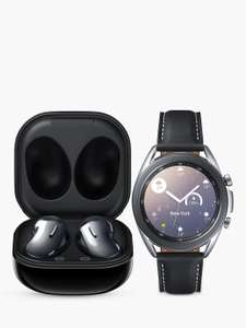 Samsung Galaxy Watch 3 41mm Stainless Steel + Galaxy Buds Live Mystic Bronze + Duo Pad & Charger Pad - £551.15 @ John Lewis & Partners