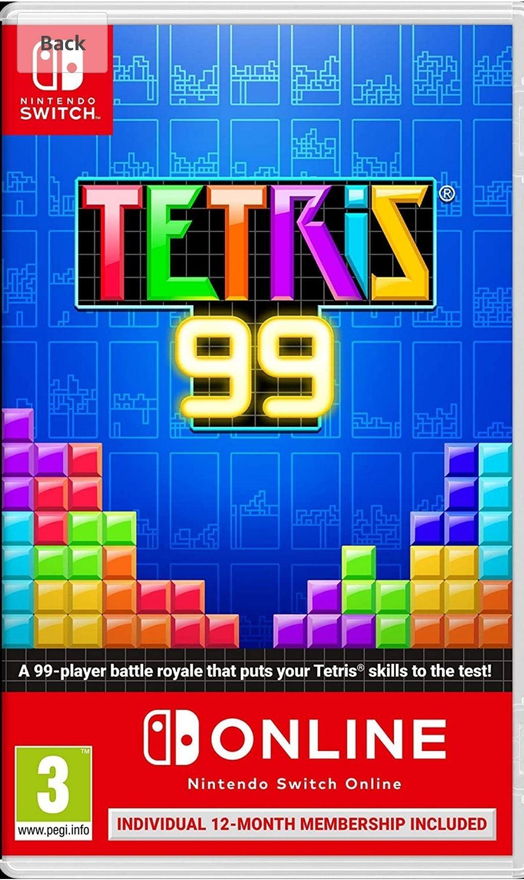 Tetris 99 + Switch Online 12 months £17.97 (+£2.99 non-prime) @ Amazon