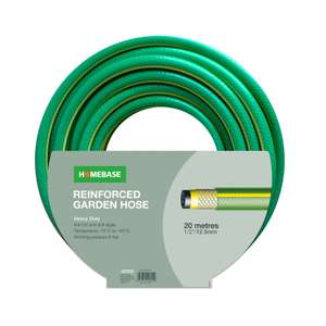 Heavy Duty Garden Hose 20m or 4-layer Hosepipe for £7 @ Homebase (free click and collect)