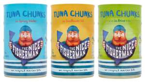 The Nice Fisherman Tuna Chunks in Sunflower Oil / Spring Water or Brine - 4x145g (580g) for £2 @ Iceland