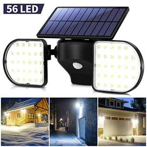 OUSFOT Outdoor Solar 56 LED Light £12.49 - Sold by ousfot and Fulfilled by Amazon. (+£4.49 non-prime)
