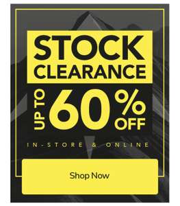 Blacks: Up to 60% off outdoor/camping/tents etc with a further 10% off this weekend with code / Also up to 50% off 'Back to School'
