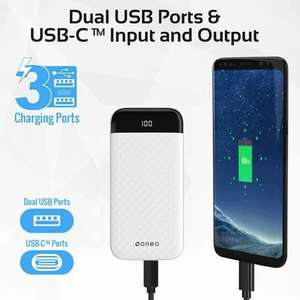 oneo 20,000mAh USB-C Portable Power Bank - White - £19.99 delivered @ MyMemory