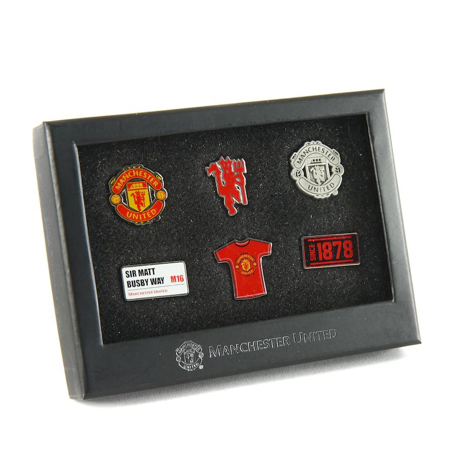 Manchester United 6 Piece Badge Set - £7.40 delivered using code @ Kitbag