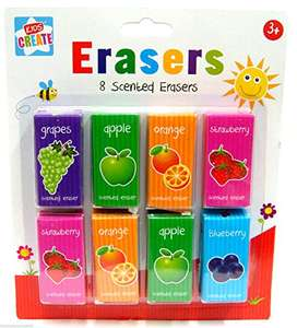 Pack of 8 Scented Rubbers ( Erasers ) £1.99 Prime / +£4.49 non Prime @ Amazon