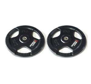 Body Power 10Kg Rubber Encased Tri Grip Standard Weight Plates (x2) - £50.99 / £57.94 delivered @ fitness-superstore