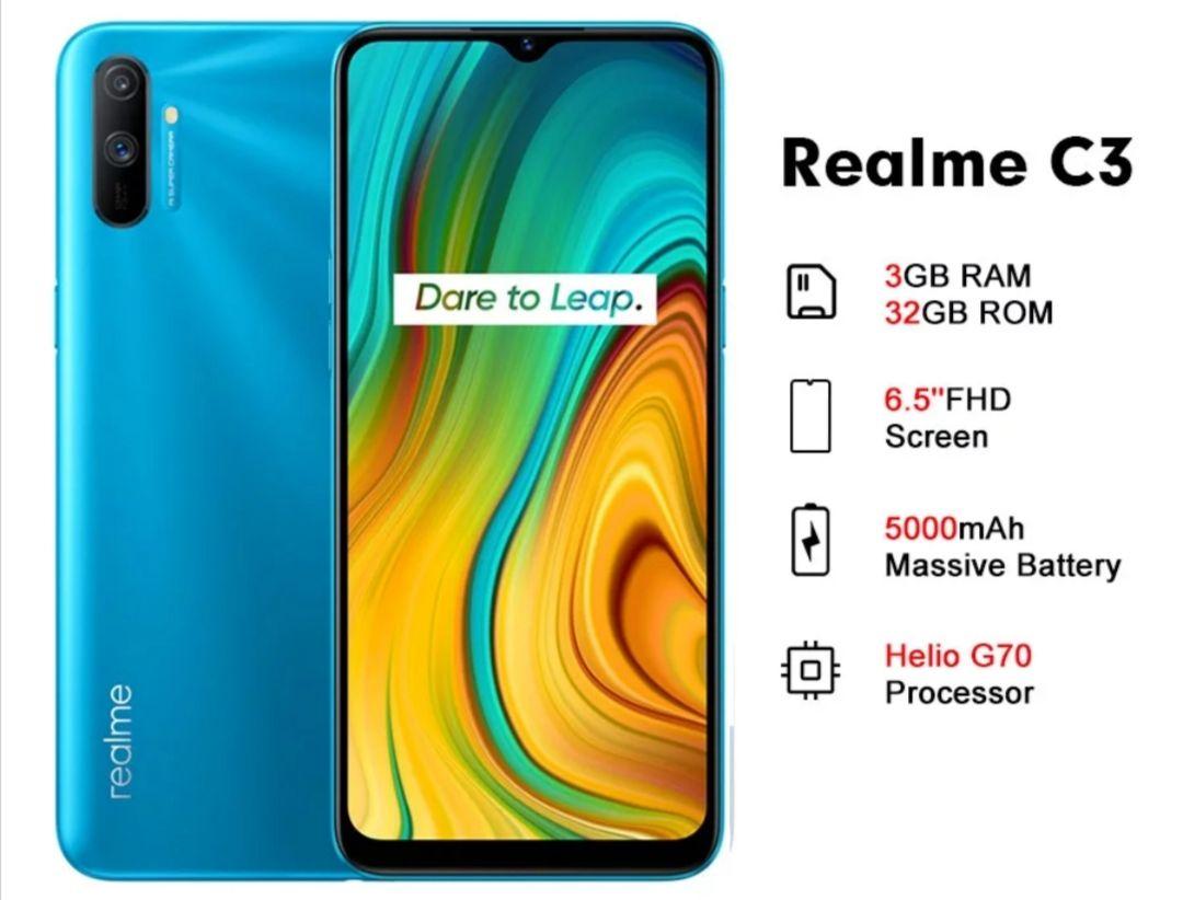 Realme C3 32GB 3GB Smartphone 5000mAh Helio G70 - £85.63 @ RTDC Store / Aliexpress