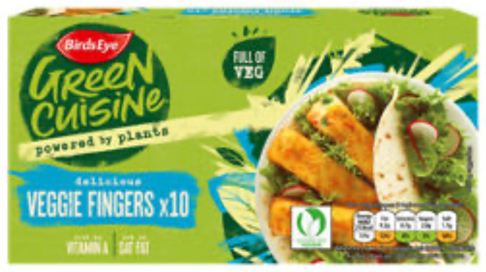 Birds Eye Green cuisine vegetable fingers 75p in Asda
