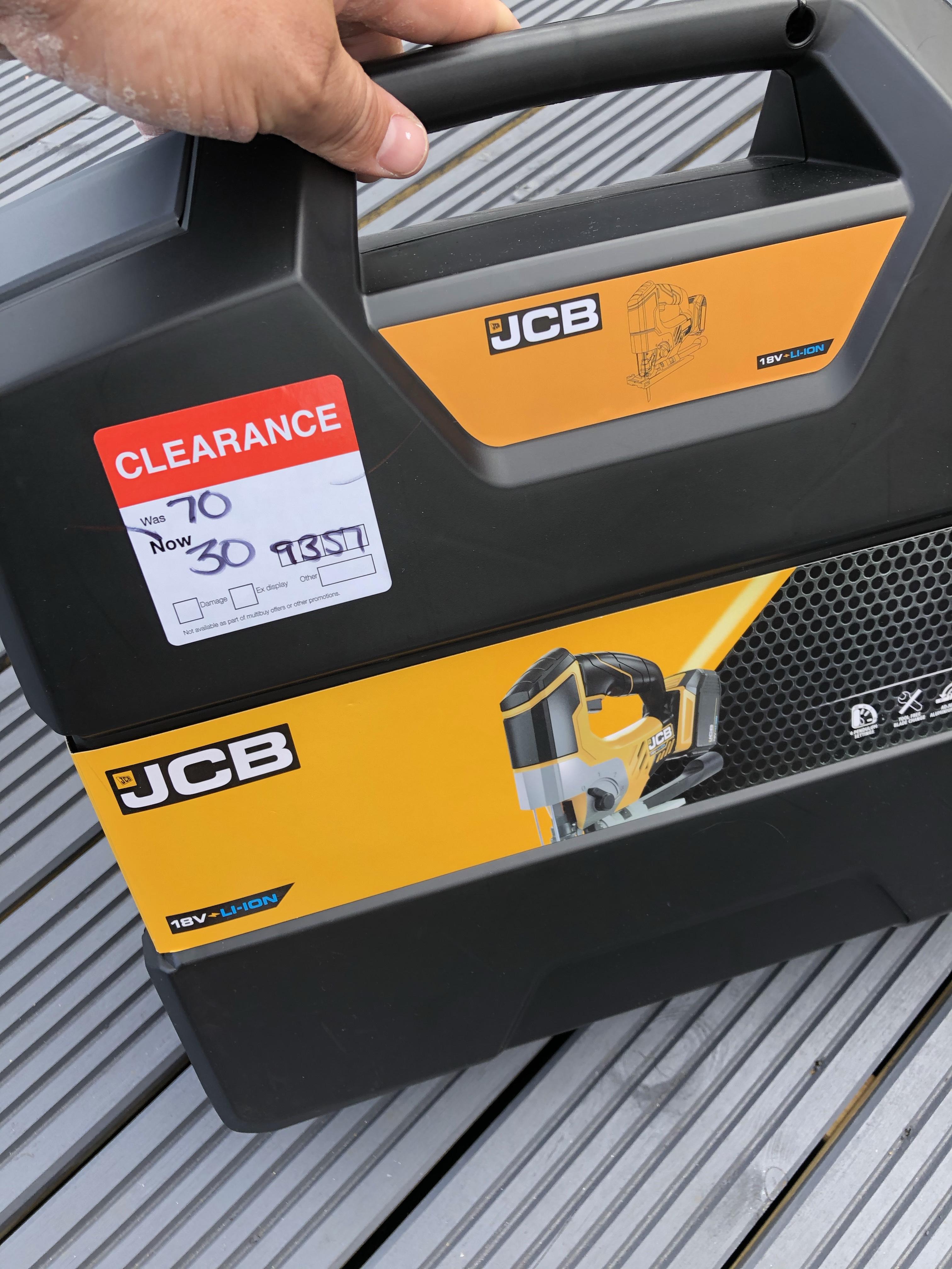 JCB 5Ah 18V Cordless Jigsaw 1 battery JCB-18JS-5 - £30 Instore @ B&Q (Halesowen)