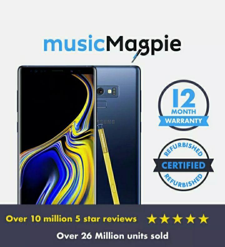 Used, Good, Samsung Galaxy Note 9 - 512 GB Unlocked £325 Ebay/MusicMagpie