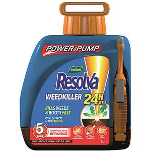 Resolva 24H weed killer with power pump 5L £22 with Free click & collect @ Wickes