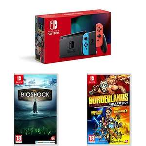 Nintendo Switch Neon(Red/Blue) with Bioshock Collection and Borderlands Legendary Collection £322.99 @ Amazon