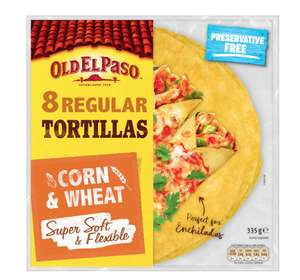 Old El Paso 8 corn and wheat tortillas - clearance now 20p. Spotted in Withington, Sainsbury's.