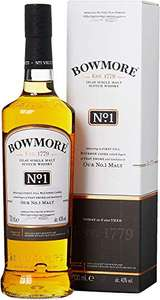 Bowmore No. 1 Single Malt Scotch Whisky, 70 cl - £20.70 Prime (+£4.49 NP) @ Amazon