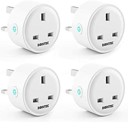 BONTEC Smart Plugs WiFi Socket Mini Plug 13A (4pack) - £23.79 Sold by bracketsales123 and Fulfilled by Amazon