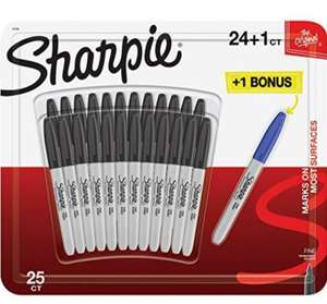 Sharpie Permanent Fine Point Markers - Pack of 25 - £9.99 Prime / £14.48 Non Prime @ Amazon