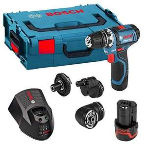 Bosch Professional GSR 12 V-15 FC Cordless Drill Driver Set with 2 x 12 V 2.0 Ah Lithium-Ion Batteries, L-Boxx £125.99 at Amazon