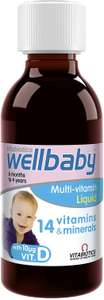 Vitabiotics Wellbaby Multi-Vitamin Liquid, 150ml - £4 (Prime) / £8.49 (non Prime) at Amazon