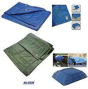 Strong Waterproof Universal Tarpaulin Sheet (Blue, 1.2m x 1.8m) - £4.99 @ Dispatched from and sold by KavDistributions.