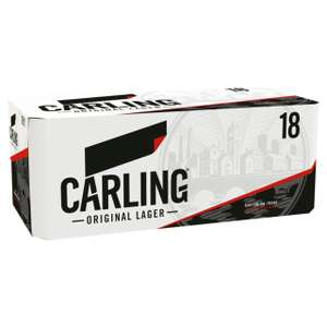 Carling Original Lager 18 pack 440ml cans £9.99 in store and online at Morrisons