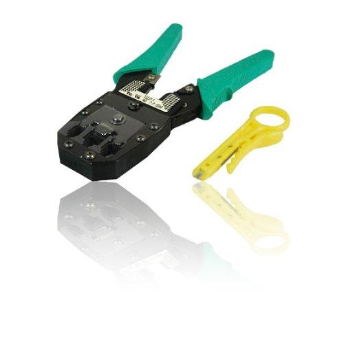 RJ45 & RJ11 Crimping Tool, Crimps 8P8C, 6P6C & 4P4C Plugs inc Insertion Tool £3.49 (Prime) + £4.49 (non Prime) at Amazon