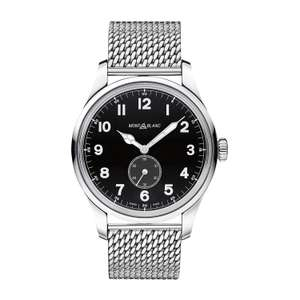 Montblanc 1858 Small Seconds Automatic men's stainless steel mesh Fraser Hart - £1500