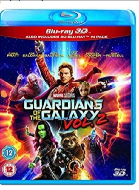 Guardians of the Galaxy Vol.2 3D BD [Blu-ray] [2017] [Region Free] £12 (Prime) £14.99 (Non Prime) @ Amazon