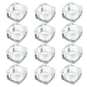 Set of 12 M&W Square Glass Tealight Candle Holders - £6.99 Delivered Using Code @ Roov
