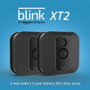 Blink XT2 Outdoor/Indoor Smart Home Security Camera - 2 Camera System - Black £128.25 with code & Free delivery @ AO eBay Store