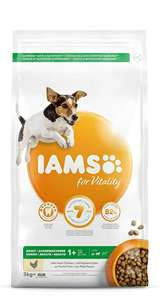 IAMS for Vitality Small/Medium Breed Adult Dry Dog Food with Fresh Chicken, 3 kg £6 (Prime) / £10.49 (non Prime) at Amazon