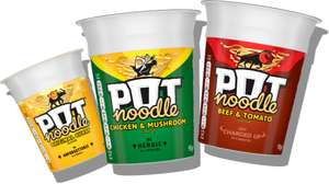 Pot Noodle 90g All Varieties - 2 for £1 @ Asda