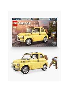 Up to 20% off Selected LEGO at John Lewis e.g. LEGO Creator 10271 Fiat 500 - £63.74 delivered at John Lewis & Partners