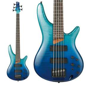 Ibanez SR875 Electric Bass Guitar In Blue Reef Gradiation - Bartolini BH2 Pickups / Med Frets - £549 Free Next Day Delivery @ GuitarGuitar