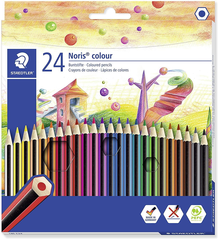 Staedtler 185 C24 Noris Colour Colouring Pencil - Assorted Colours for £3.50 (Prime) / £7.99 (Non Prime) delivered @ Amazon