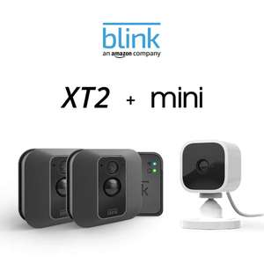 Blink XT2 2-Camera System + Blink Mini camera - £147.99 @ Amazon